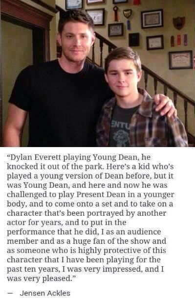 Dylan Everett as young Dean is phenomenal!