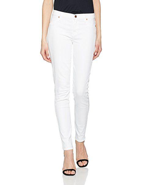 7 for all mankind Damen Jeans the Skinny, Weiß (White Cad), W24 L30  (Herstellergröße  24) - Sommer Hosen Trends sommerhosen sommer hose nähen  damen… 3b46d0d0a7