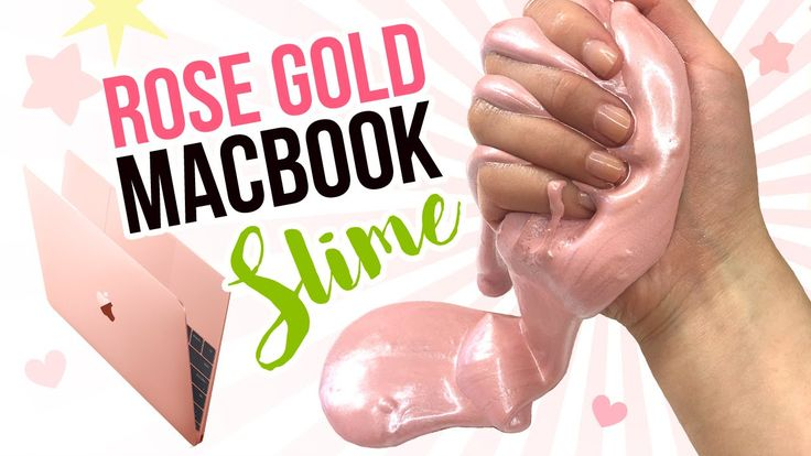 DIY Rose Gold MACBOOK Slime!! Metallic DIY Slime Inspired by New Pink 12...