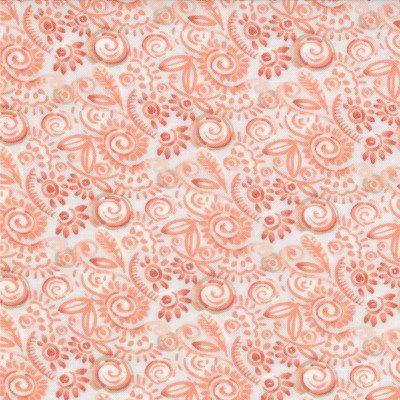 Modern Roses - Sweat Pea in Ginger (7186 14) // Juberry Fabrics