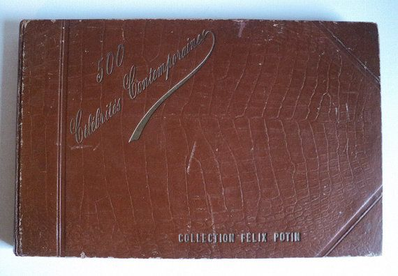 French Collectible Photos Felix Potin Album by LaBelleEpoqueDeco