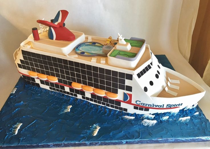 Best Th Birthday Images On Pinterest Cakes Conch Fritters - Cruise ship cake