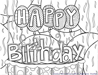 112 Best Happy Birthday Coloring Pages Images On Pinterest