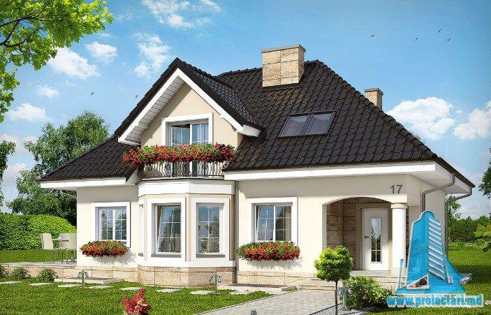 Proiect de casa cu demisol, parter, mansarda -100605