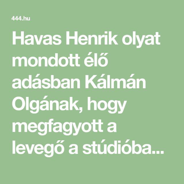 Havas Henrik olyat mondott élő adásban Kálmán Olgának, hogy megfagyott a levegő a stúdióban     2018-01-02 ATV-Egyenesen  - 444