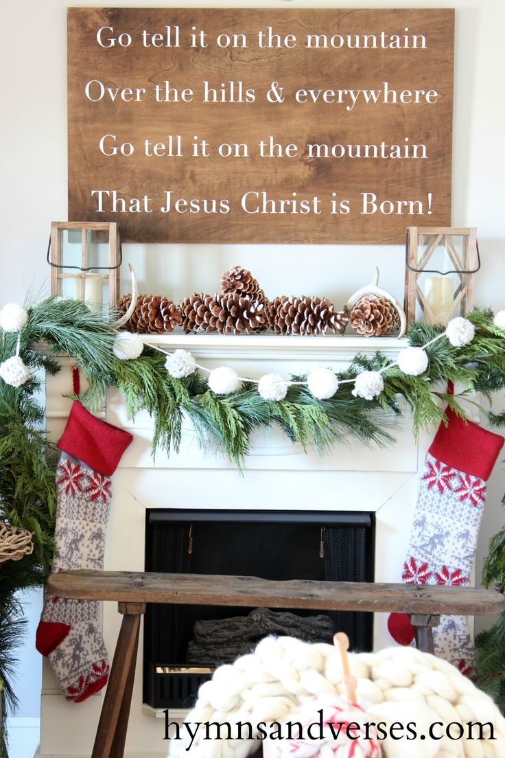 Go Tell it on the Mountain Sign - Hymns and Verses
