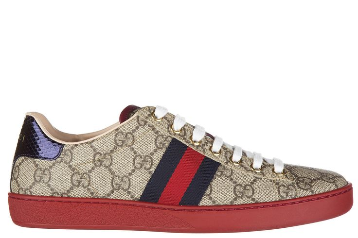 Gucci Women'S Shoes Trainers Sneakers  Gg Supreme Beige 82E