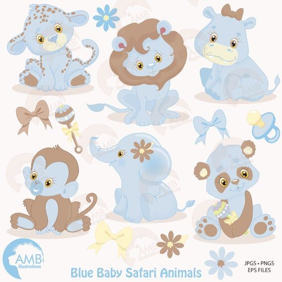 Combo Jungle Animals Clipart And Digital Papers Animal Etsy Animal Clipart Baby Animals Animal Projects