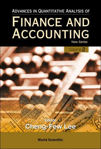 I'm selling Advances in Quantitative Analysis of Finance and Accounting, Vol 2 by Cheng-Few Leeby - $20.00 #onselz