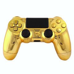 Gold controller, ps4 gold controller, modded controllers, ps4 modded controller >> gold ps4 controller --> http://www.intensafirestore.com/products/ps4-modded-controller-chrome-gold