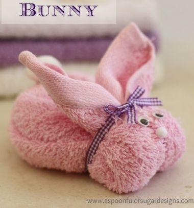 Face washer towel bunny - creative gift wrapping / Nyuszis törölközők - kreatív ajándékcsomagolás /  Mindy -  creative craft ideas