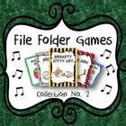 Collection Number 2! Great tool for individual practice or music centers... File Folder Games for See Saw, Bounce High, Billy Sad, Dinah, and Naughty Kitty Cat.