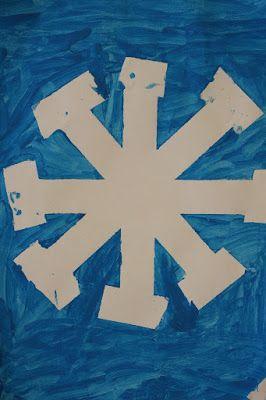 Fiocco di neve con il nastro adesivo