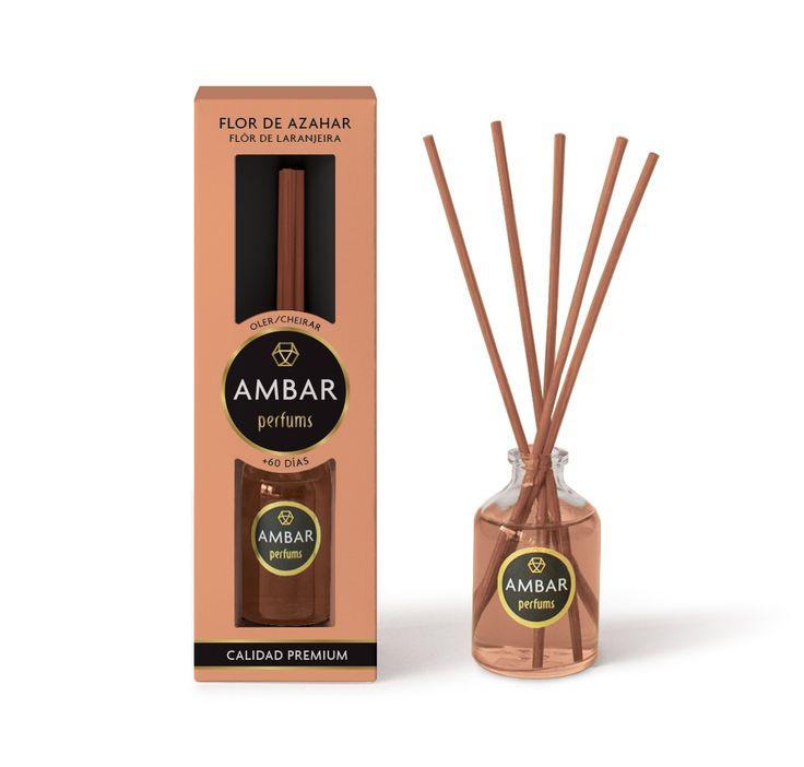 Ambientadorde mikado de 50ml,0% Alcoholcon perfume a Flor de Azaharde Calidad Premium. Elimina los malos olores.