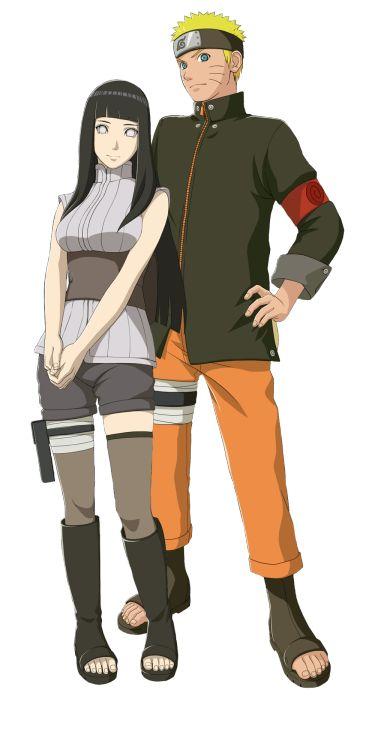 Hinata Hyuga and Naruto Uzumaki in game that takes elements from Naruto The Last movie