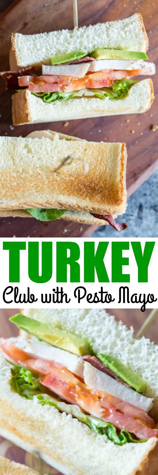 Roasted turkey tenderloin, pesto mayo, and avocado make this Turkey Club Sandwich the toast of the town. It's simplicity at its finest and most delicious! via @culinaryhill