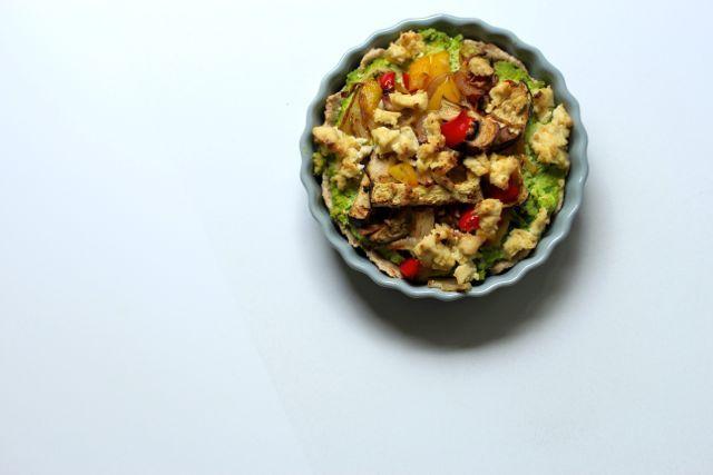 #Veganes #Rezept Spinat Tofu Tarte - lecker...