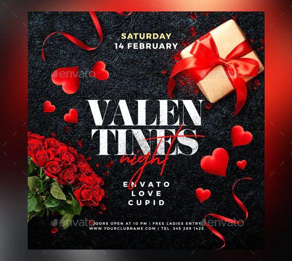 Valentines Day Nightclub Flyer Template Psd Flyer Template Flyer Valentines