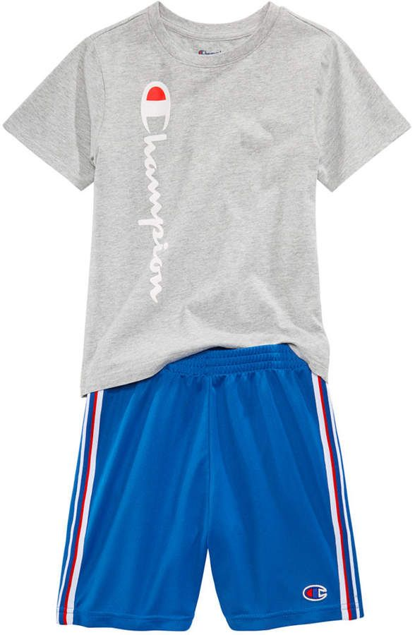 1c1fbfde6895 Champion Heritage 2-Pc. Logo-Print T-Shirt & Shorts Set, Toddler Boys