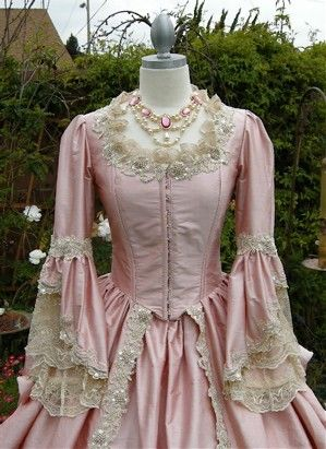 pink antoinette gown