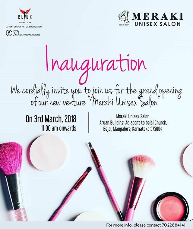 The grand inauguration of MERAKI unisex Salon (@merakimangalore) at Bejai Mangalore on 3rd March 2018. . . . . . A venture by team of @retoxloungebar. . Keep Following us for more updates @merakimangalore @merakimangalore @merakimangalore  @merakimangalore . #Meraki #UnisexSalon #Salon #MerakiMangalore #MerakiSalon #Mangalore #Mangaluru #Kudla #Olpa #HairSalon #beauty #beautysalon #RetoxLoungeBar #RetoxMangalore #RetoxLounge #inauguration #openingceremony #openingday #merakiunisexsalon