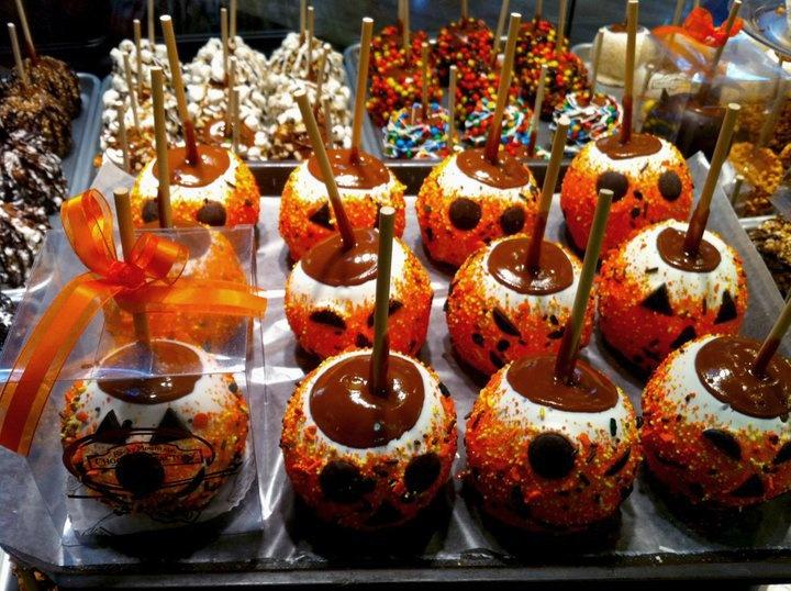 Halloween Decorated Caramel Apples Halloween candy