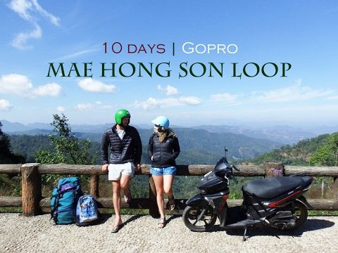 GoPro Footage from Mae Hong Son Loop by Motorbike | Northern Thailand | The Married Wanderers Travel Vlog