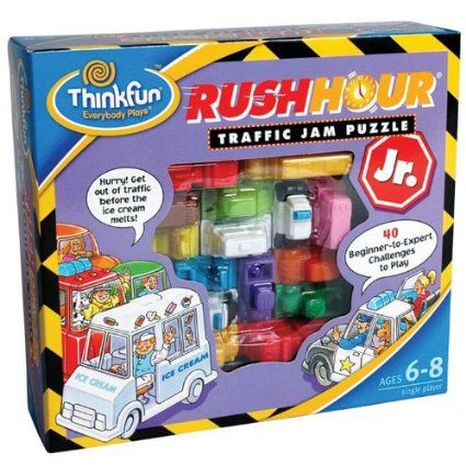 Amazon.com : ThinkFun Rush Hour Jr. : Board Games : Toys & Games