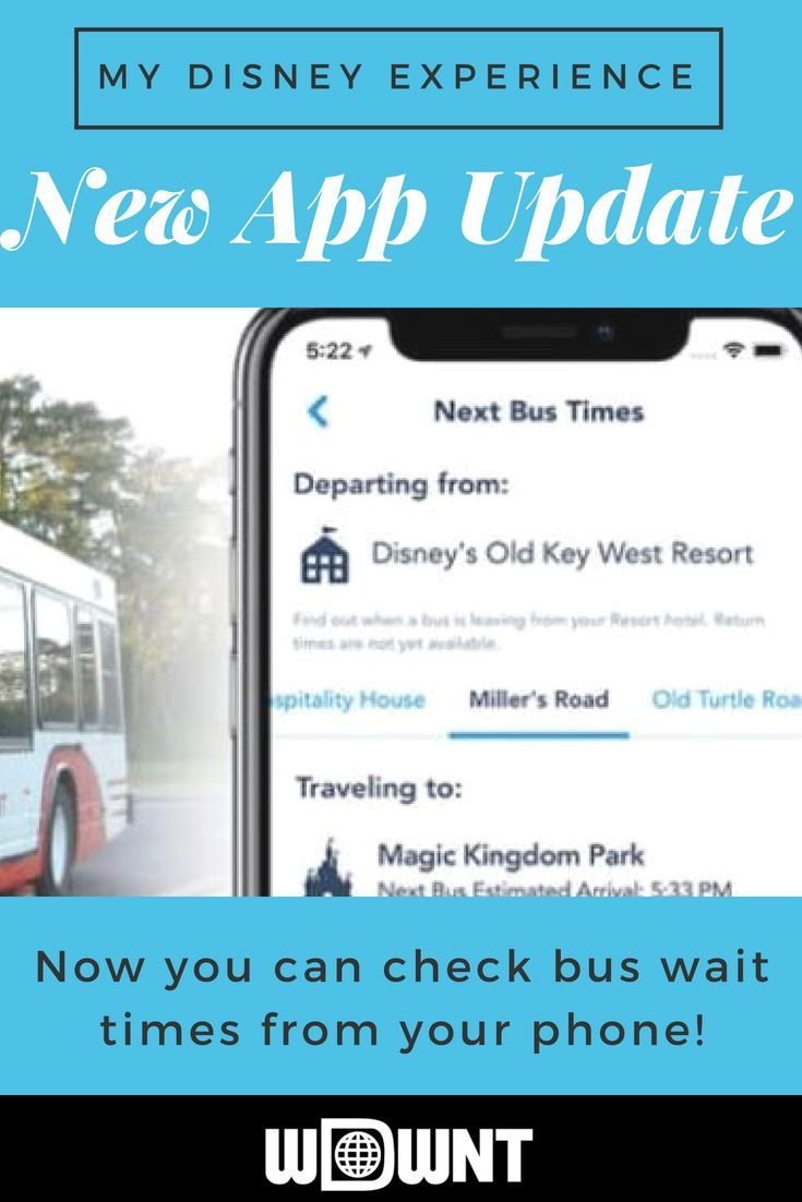 Disney has released an update for the My Disney Experience