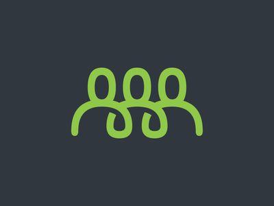 Team logo 一笔画象征团队团结一致