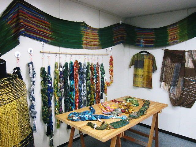 出来上がりの布♪教室風景 - 手織適塾さをり 横浜通信 -さをり織り情報ブログ