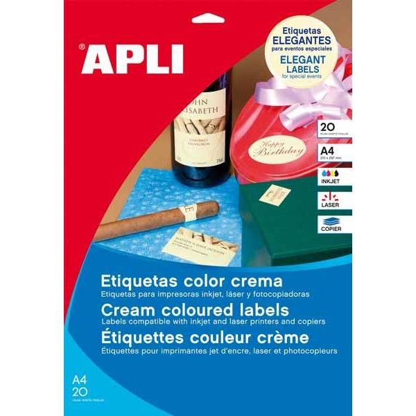Comprar Etiquetas Adhesivas Color Crema 70 x37 mm Apli 11800 #business #etiquetas #material #empresa #comercio #comercial #adhesivo #colores #crema