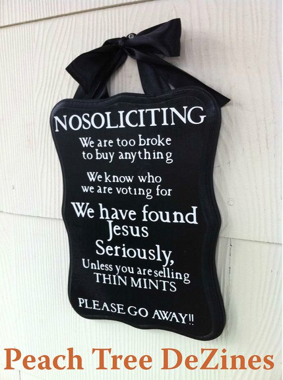 No soliciting sign/ Front door sign/Welcome/Gift (THE ORIGINAL) I WANT THIS! $20