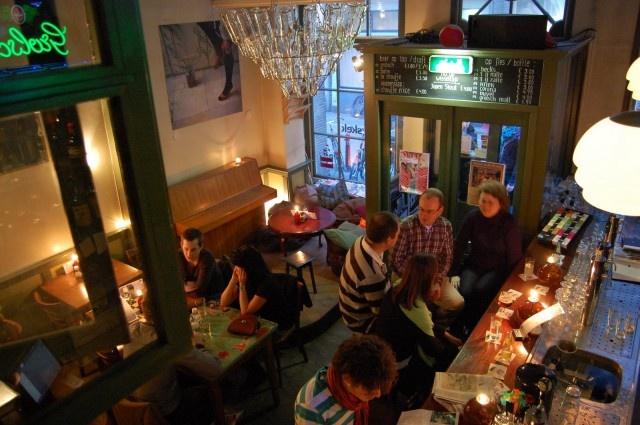 Skek in Amsterdam aan de Zeedijk, volledig door studenten gerund, duurzaam eetcafé
