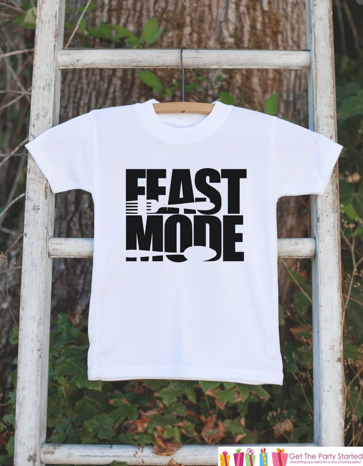Feast Mode Outfit - Kids Thanksgiving Dinner Tshirt or Onepiece - Funny Kids Thanksgiving Outfit - Boy or Girl Thanksgiving Shirt