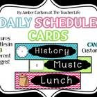 This file includes:  Daily Schedule Cards in 3 styles Editable Schedule Cards in all 3 styles(must have PowerPoint to edit) Daily Schedule Sign  I ...