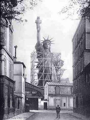 Statue of Liberty under construction in France.