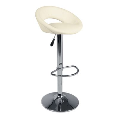 Inspired by 60's and 70's retro styles, these bar stool will be a quirky addition to a breakfast bar or bar table. It has a heigh adjustable base, for your comfort.