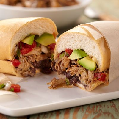 Spice things up with this slow cooker pulled pork recipe, complete with Latin flair.