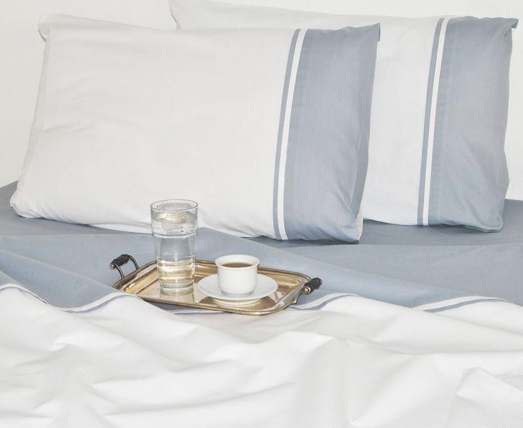 Lenjerie de pat din bumbac Valentini Bianco VKR20 White