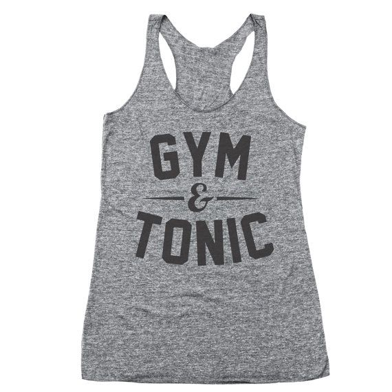 Gym And Tonic Funny Workout Top Party Humor Racer by CPClothing