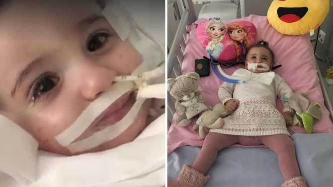 Just ten days after doctors suggested turning off life support, little Marwa could be seen with eyes wide, and responding to her name.