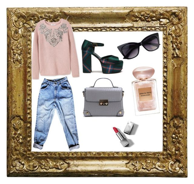 """""""Untitled #26"""" by evachrisomalli-1 on Polyvore featuring MANGO, Mulberry, Giorgio Armani and Burberry"""