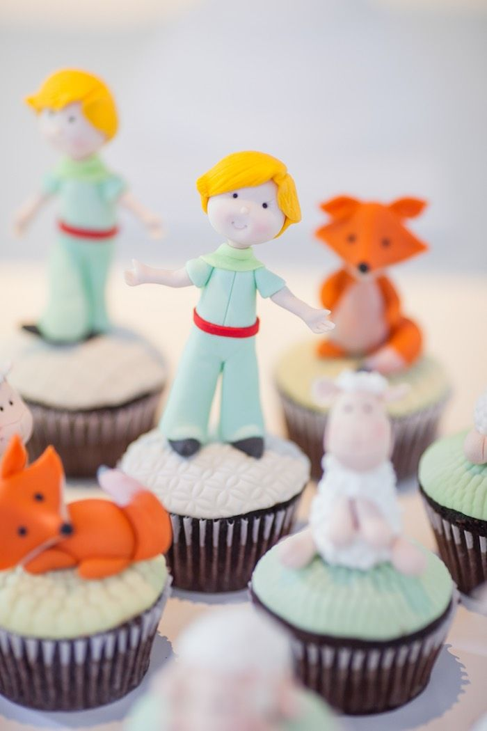 Cupcakes from a Little Prince Inspired Baptism Party via Kara's Party Ideas KarasPartyIdeas.com (18)
