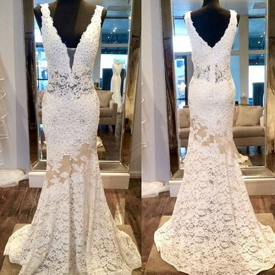 Lace+prom+dresses,+mermaid+prom+dresses,+v+neck+prom+dress,+sexy+prom+dresses,+2017+long+prom+dresses,+evening+dress,+ivory+prom+dress,+15394    Important!!!+Please+note!!!    We'll+email+you+to+confirm+the+dress+details+within+24+hours+after+get+your+order,+please+make+sure+your+email+address+is...