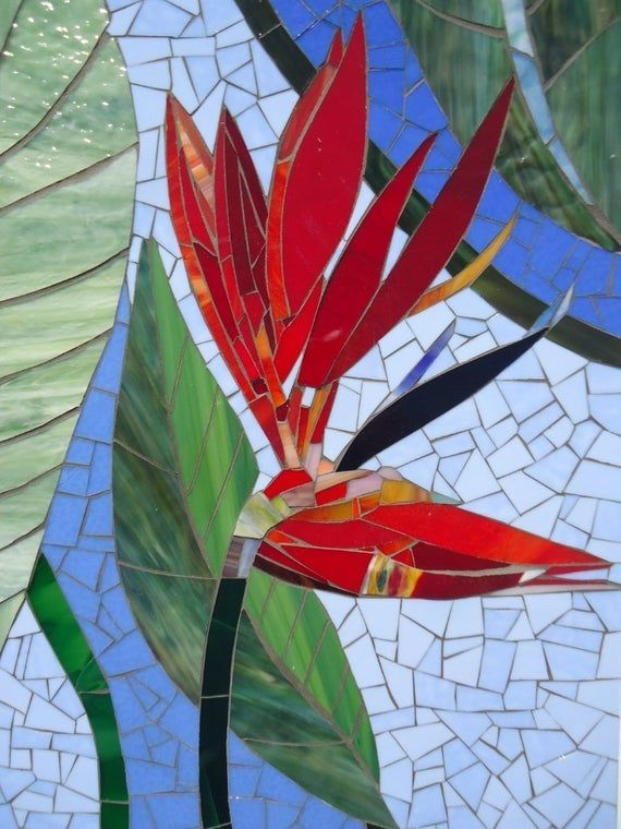 Paradise Mosaic Wall Art Stained Glass Wall Decor Floral Garden Indoor Outdoor Patio Art Wall Hanging Made To Order Ex Mosaic Art Art Stained Mosaic Artwork