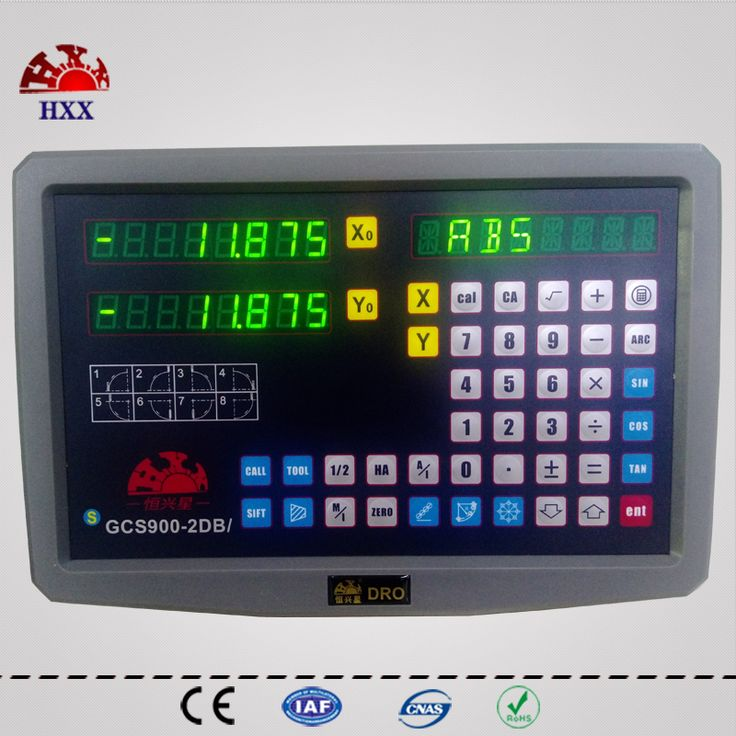 hxx new dro 2 axis gcs900-2db/ XY coordinate measuring instrument digital readout for mill/edm/lathe machine