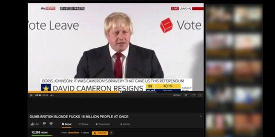 Brexit-speech Boris Johnson opgedoken op Pornhub