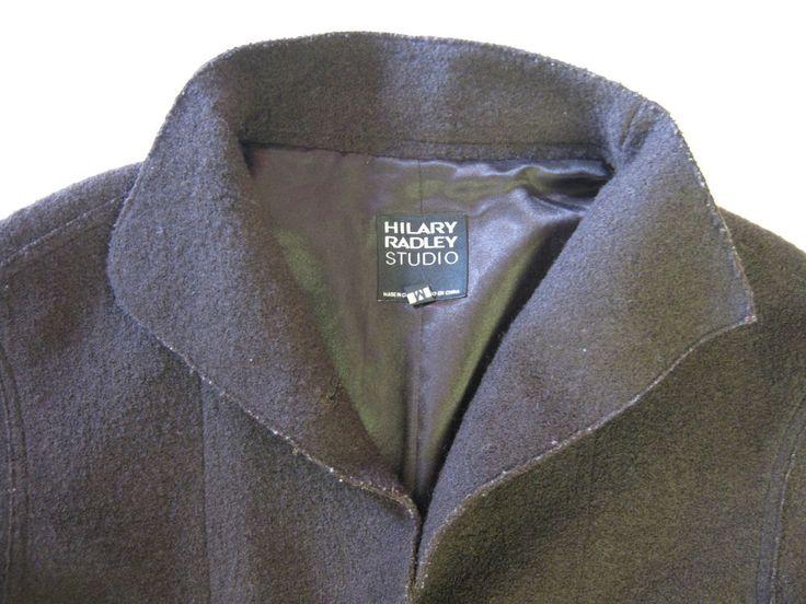 Hilary Radley Studio Coat Jacket M Medium Brown Womens CLEARANCE SALE #HilaryRadleyStudio #BasicJacket