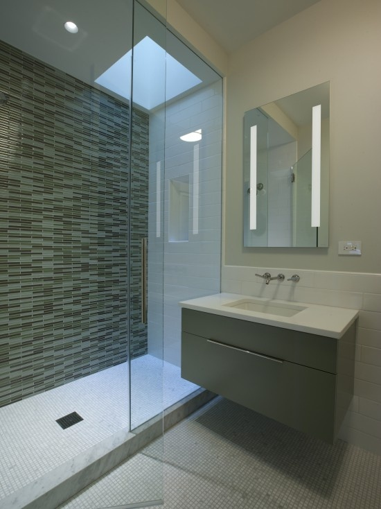 Bathroom skylight dream home pinterest ikea for Small bathroom high ceiling